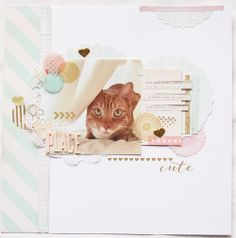 #papercraft #scrapbook #layout   Happy Place by agomalley at @Studio_Calico