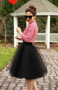 holiday ready: in tulle. the tulle skirt:: ebony I would do this ... if I weren't going to my  inlaws' place.