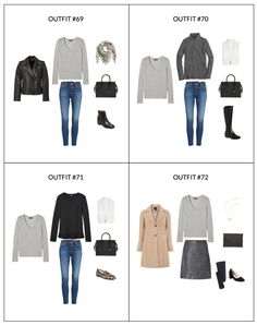French Minimalist Capsule Wardrobe - Winter 2018 - Outfits