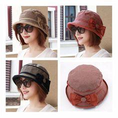 ecc85e29c05 Orange bucket hat with bow for women packable sun hats spring