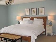 Benjamin Moore Gossamer Blue just painted our bedroom this color, LOVE it!!