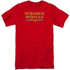 Dc - Wonder Woman Logo Adult Tall Fit T-Shirt