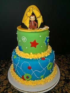 Marvelous Image of Curious George Birthday Cakes . Curious George Birthday Cakes Curious George Cakes Decoration Ideas Little Birthday Cakes Curious George Cupcakes, Curious George Party, Curious George Birthday, Birthday Cake Pictures, 1st Birthday Cakes, Birthday Cake Toppers, Birthday Ideas, Birthday Nails, Third Birthday