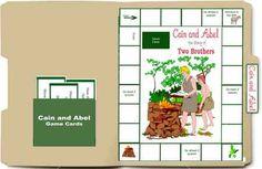 Cain and Abel lapbook game. Free Bible Lapbook Game: Cain and Abel - Heart of Wisdom : Heart of Wisdom Bible Games, Bible Activities, Bible Resources, Sunday School Games, Sunday School Crafts, Bible Lessons For Kids, Bible For Kids, Conquistador, Folder Games