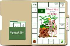 Free Bible Lapbook Game: Cain and Abel - Heart of Wisdom Homeschool Blog #freebie #bible #lapbook #homeschool