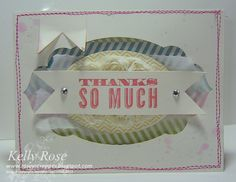 Kelly Rose, Independent Stampin' Up! Demonstrator: Oh Hello stamp set Thank you card