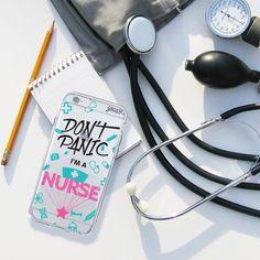 Tag you nurse friends! [shop this case on our website goca.se/insta] #dontpanicimanurse #iphone #samsung #motog3 #instagood #instadaily. Phone case by Gocase www.shop-gocase.com