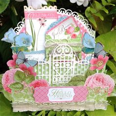 Day 3 Blog Hop with Graphic 45 and Scrapbook Adhesives by 3L: A 3D Botanical Tea step card by Kelly Klapstein #graphic45 #scrapbookadhesives