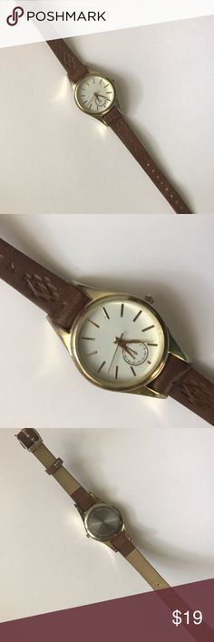 Submit ANY Offer! Aztec Brown Watch Good Overall Condition! Has some wear and battery doesn't work Francesca's Collections Accessories Watches