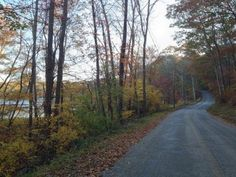 Wyassup Lake and Wyassup Lake Road on the Narragansett Trail in North Stonington, Connecticut (CT).  Image by Jim Rattray.