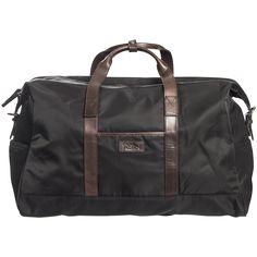 Oscar Jacobson men´s black weekend bag with leather details.