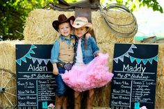 A Vintage  Cowboy and Cowgirl Western Themed party for five year old Twins by Jackie from Jack and Kate