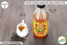 Things needed to make DIY facial toner for oily and acne-prone skin using apple cider vinegar and green tea Apple Cider Vinegar Cellulite, Apple Cider Vinegar For Skin, Green Tea Toner, Back Acne Treatment, Facial Toner, How To Get Rid Of Acne, Skin Care, Acne Scars