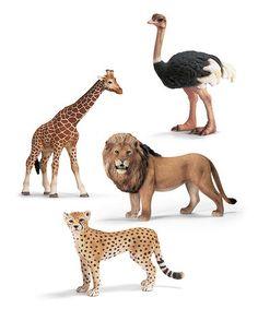 Love this Savanna Wildlife Figurine Set by Schleich on #zulily! #zulilyfinds