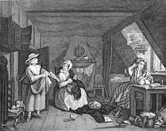 """""""The Distressed Poet"""" by William Hogarth (1737)"""