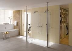 A lovely oversized floor-level UD shower