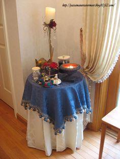 イタリア直輸入ダマスク織り トップクロス***「Chez Mimosa シェ ミモザ」   ~Tassel&Fringe&Soft furnishingのある暮らし~   フランスやイタリアのタッセル・フリンジ・ファブリック・小家具などのソフトファニッシングで、暮らしを彩りましょう   http://passamaneriavermeer.blog80.fc2.com/