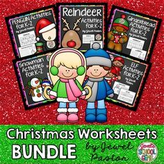 Christmas Worksheets CHRISTMAS WORKSHEETS BUNDLE Christmas Worksheets Bundle composed of exciting elf, gingerbread, penguin, reindeer and snowman activities for your students.  Each packet in this Christmas Worksheets Bundle contains:Hidden MessageSilhouette MatchMixed PicturesDraw and ColorMazesOdd One OutWord Search PuzzlePicture MatchSpot the DifferenceAnswer KeyYour students will surely enjoy these CHRISTMAS WORKSHEETS!