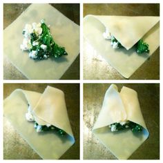 Kale & Feta Baked Wontons, definitely worth a try...2 flavors I enjoy together.