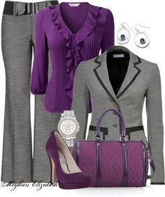 """""""Purple and Gray"""" by meghanelizabeth13 on Polyvore"""