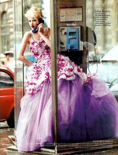 Alexandra Tretter in Dior Haute Couture for Elle Italia