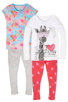Buy Giraffe Jersey Pyjamas Two Pack (3-16 yrs) from the Next UK online shop