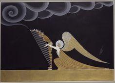Ange harpiste, 1926, Erté