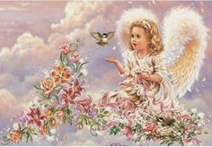 Hot Diy diamond painting cross stitch crafts Angel Flower Bird Needlework home decoration gift embroidery kits drawing Angel Stories, I Believe In Angels, Earth Design, Angel Pictures, Angel Images, Pictures Images, Angels Among Us, Snow Angels, Angel Art
