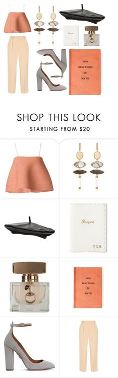 """""""TANK TOP"""" by eva-jez ❤ liked on Polyvore featuring Rosie Assoulin, Witchery, GiGi New York, Gucci, Aquazzura and The Row"""