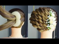 kapsels lang haar Easy French Roll Hairstyle Step By Step Classic Hairstyles, Easy Hairstyles For Long Hair, Braided Hairstyles, Cool Hairstyles, Short Hair, Wedding Guest Hairstyles, Party Hairstyles, French Roll Hairstyle, Step Hairstyle