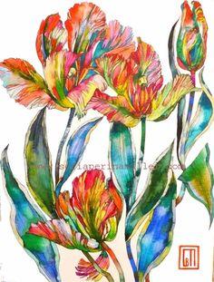 Dutch Tulips. Art by Sofía Perina Miller
