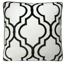 Luxury Black & White Gate Silk Pillow From InStyle-Decor.com Beverly Hills Enjoy & Happy Pinning