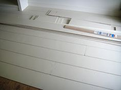 tutorial on wide plank plywood floors that cost    45 cents a square foot.