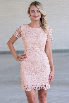 Pink lace sheath Dress, Cute pink Juniors Dress Online