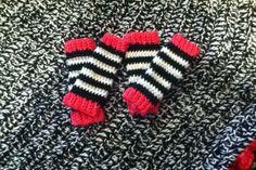 Leg warmers for Jim Lambert's twins.