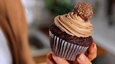 Ferrero Rocher-Nutella-Cupcakes Rezept als Back-Video zum selber machen! Ganz einfach Schritt für Schritt erklärt!