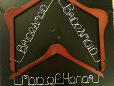 Personalized Custom Hangers Wedding Hangers Bride by LBMagnolias