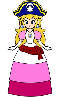 Super Mario Princess, Pirates, Princess Peach, Deviantart, Princesses, Nintendo, Fictional Characters, Girls, Dress