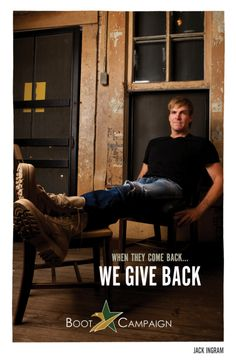 At Boot Campaign, we proudly serve our country by providing life-improving programs for veterans and military families nationwide to bridge the divide between military life and civilian life. So stand with us, America. Jack Ingram, Military Life, Giving Back, Boots For Sale, Music Lovers, Country Music, Soldiers, Comebacks, Rocks