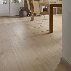 Parquet contrecollé chêne blanchi 108,5 x 18 cm Alba - CASTORAMA Plus