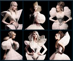 Avant garde..I was not sure where to pin this..hairstyles or clothing. So it is here..