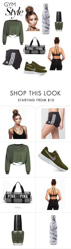 """""""Gym Style"""" by jujee2001 ❤ liked on Polyvore featuring adidas, WithChic, NIKE and OPI"""