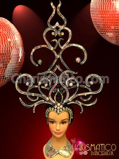 Charismatico Dancewear Store - Black and Silver Showgirl's Swirled Headdress with Mirror and Crystals, $179.00 (http://www.charismatico-dancewear.com/products/Black-and-Silver-Showgirl's-Swirled-Headdress-with-Mirror-and-Crystals.html)