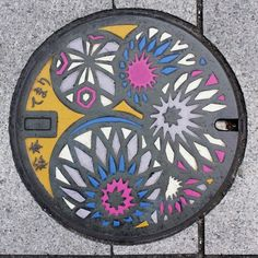 Japan manhole covers and drains. The US needs more of these! So pretty.