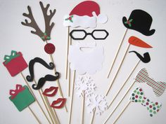 Photo Booth Props Christmas Holiday Props with by PhotoBoothFun