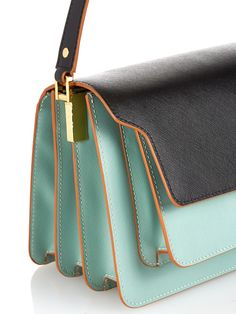 Trunk medium bi-colour leather shoulder bag | Marni