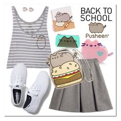 """""""#PVxPusheen"""" by adduncan ❤ liked on Polyvore featuring Pusheen, My Mum Made It, Keds, contestentry and PVxPusheen"""