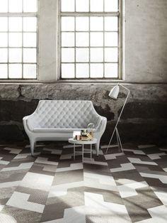 "Bolon exhibit their new studio tile ""Wing"" at Clerkenwell Design Week"