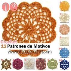 Patrones de motivos crochet con foto y esquema Crochet Videos, Crochet Flowers, Doilies, Dream Catcher, Knit Crochet, Crochet Patterns, Stitch, Knitting, Ideas Para