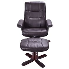 Executive Pu Leather Seat Chair Leisure Recliner Swivel Furniture W/ Ottoman - Arm Chairs, Recliners & Sleeper Chairs - Chairs - Furniture